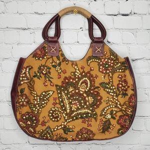 Isabella Fiore Beaded Floral Handbag